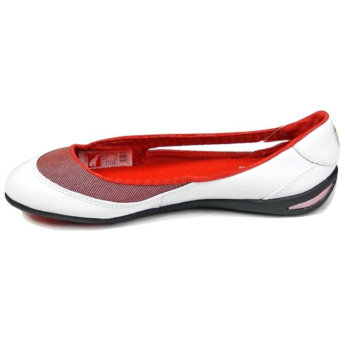 b7ad5c1c0ed Puma Women s Winning Diva Ballerina Scuderia Ferrari Leather Flat Shoes  (White Rosso Corsa) (UK 4.5   EU 37.5   US 7)  Amazon.co.uk  Shoes   Bags