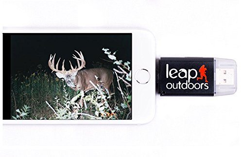 Leap Outdoors Trail or Game Camera Viewer SD Card Reader for Apple iPhone or iPad | Works with Cases | Reads SD, SDHC, and Micro SD Cards (Device + Case) by Leap Outdoors