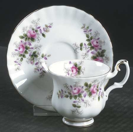 (LAVENDER ROSE Royal Albert Coffee Cup & Saucer New UK Made)