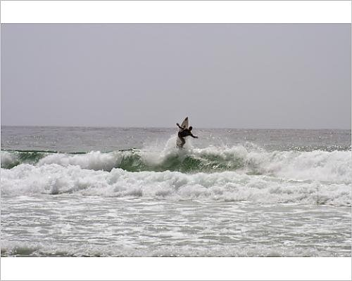 Photographic Print of Surfing along Carmel Coastline,California