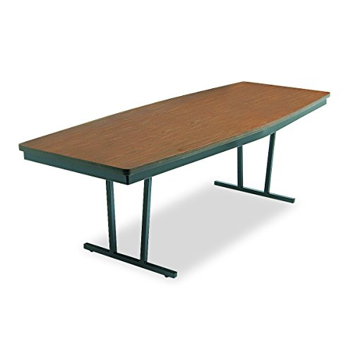 Brown Economy Folding Table (Barricks ECT-368WA ECT368WA Economy Conference Folding Table Boat 96w x 36d x 30h Walnut/Black)