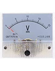LOVIVER Painel 85C1-V Tensão CC Medidor de Tensão Analógico Medidor de Voltímetro Testador de Corrente 0-20V