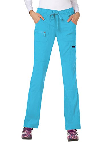 KOI lite Women's Peace Scrub Pant Electric Blue (Ladies Mesh Knit Pant)