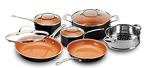 Gotham Steel 10-Piece Nonstick Frying Pan and Cookware Set
