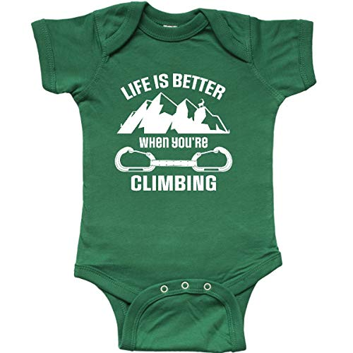 inktastic Rock Climbing Mountains Infant Creeper 12 Months Kelly Green