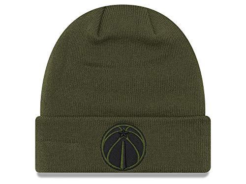 New Era Washington Wizards Olive Green Cuffed Fall Time Beanie Hat - NBA Cuff Knit Toque Cap ()