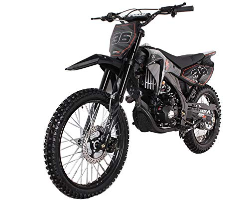 SMART DEALSNOW Brings BRAND NEW APOLLO Dirt Bike 250cc AGB-36 APOLLO with Standard Manual Clutch  - MIDNIGHT BLACK Color - Manual Clutch Dirt Bike