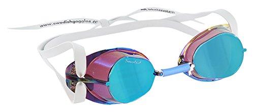 Original Swedish Goggle - Original Swedish Mirrored Swim Goggles blue