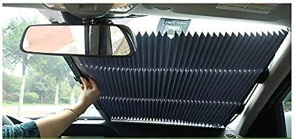 Protection UV contre la chaleur XMST Pare-soleil de voiture pliable r/étractable pour ouvrir le pare-soleil avant et arri/ère de voiture forte ventouse qui maintient le v/éhicule au frais