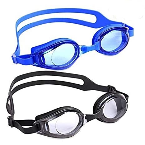 Swim Goggles 2-PACK Anti-Fog Leak Proof Soft Silicone UV Protection Crystal Clear Swimming Goggles with Ear Plugs and Nose Clips for Adult Men Women Youth Kids Children Toddlers