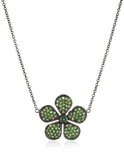 Colette-Steckel-Galaxia-18k-Gold-Medium-Green-Colette-Flower-Necklace