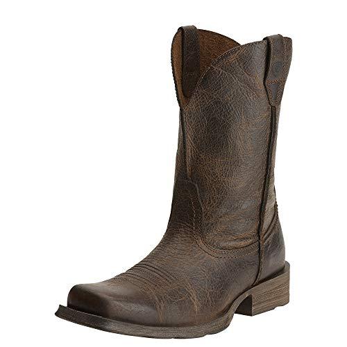 (Ariat Men's Rambler Wide Square Toe Western Cowboy Boot, Wicker, 8 2E US)