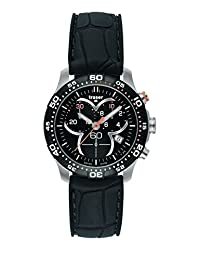 traser H3 Ladytime Black Chronograph Sapphire Watch | Leather Watch Band