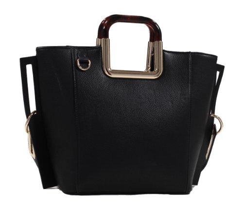 MyLux® Connection Shoulder Handbag K68037l (black373)