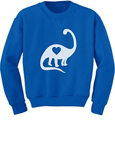 TeeStars Dinosaur Love Heart Valentine's Day Gift Cute Toddler/Kids Sweatshirt 4T Blue