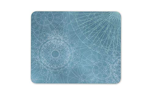 - Blue Geometric Drawings Mouse Mat Pad - Retro Art Pretty Computer Gift HB5937