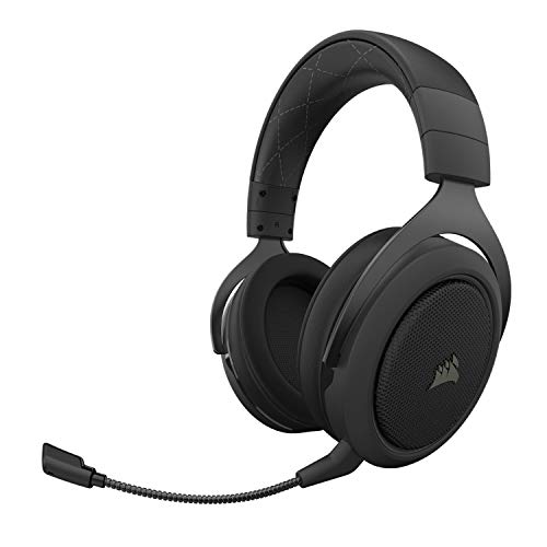 Corsair CA-9011211-NA HS70 Pro Wireless Gaming Headset - 7.1 Surround Sound Headphones for PC - Discord Certified - 50mm Drivers – Carbon