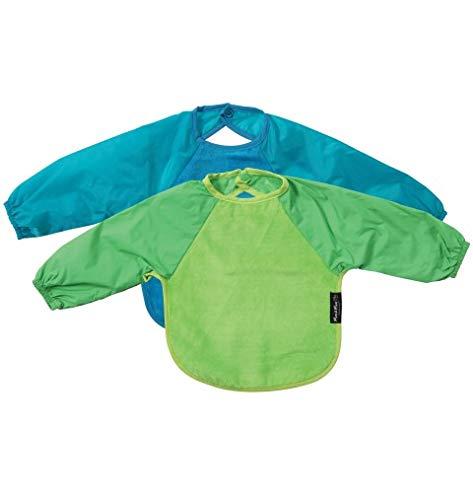 New Mum 2 Mum 6-18 Months Sleeved Wonder Bib Multipack in Lime//Teal