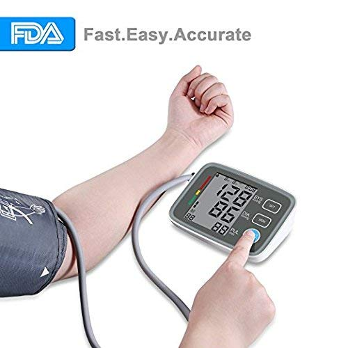 - Upper Arm Blood Pressure Monitor, Ann Bully BP Monitor with Memory Storage,Digital Blood Pressure Cuff Machine Automatically Measure Diastolic Systolic with Large LCD Screen