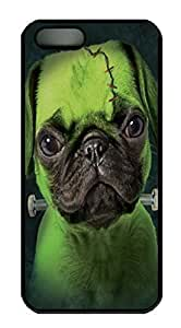 Franken Pug Custom PC Hard For HTC One M9 Phone Case Cover Black