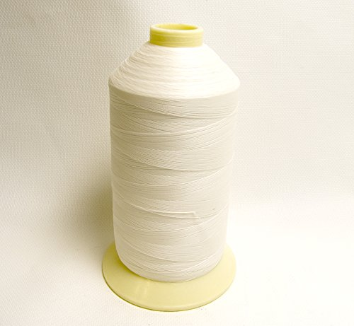(Thread, Polyester Coats Bonded Thread-16oz. Spools White - Size DB-92 T-90 - Shipped from The USA!)