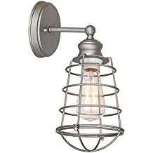 Design House 519702 Ajax 1 Light Wall Light, Galvanized Steel Finish