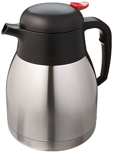 Winco CF-1.2 Stainless Steel Lined Carafe, 1.2-Liter (Winco Decanter)