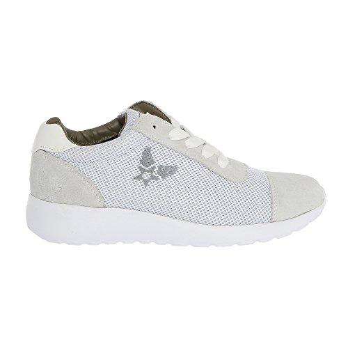 HARLIN 161W81975 Damen Sneakers Weiß AVIREX Schnürsenkeln mit Sportschuhe qxZYwFPFA