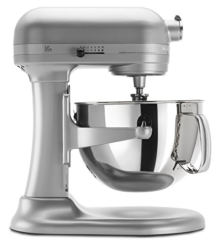 KitchenAid KP26M1XNP 6 Qt. Professional 600 Series Bowl-Lift Stand Mixer - Nickel Pearl by KitchenAid