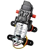 #10: bayite 12V DC Fresh Water Pressure Diaphragm Pump with Hose Clamps Self Priming Sprayer Pump with Pressure Switch 4 L/Min 1.0 GPM 80 PSI for Camper RV Marine Boat