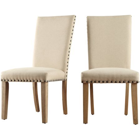Superb Amazon Com Chelsea Lane Fabric Nailhead Side Chair Set Of Ocoug Best Dining Table And Chair Ideas Images Ocougorg
