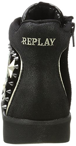 Noir Femme Baskets REPLAY Penly Hautes Black wqS7AvIRx