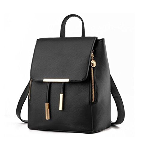 Red Backpack Bag bag Rucksack Fashion Shoulder Girls Leather Ladies Women PU Travel wEZqXPx