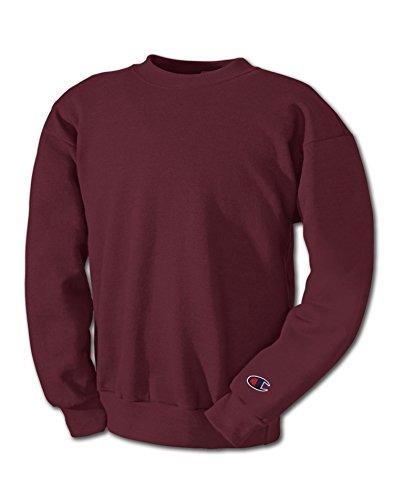Champion Adult 50/50 Crewneck Sweatshirt, Maroon - Size X-Large (Champion Classic Reverse Weave Crewneck Sweatshirt Pink)