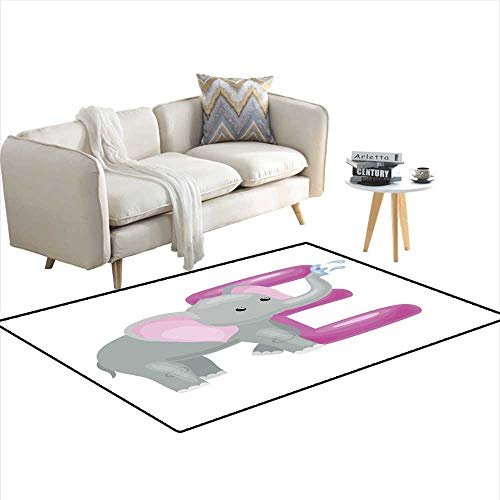Kids Carpet Playmat Rug Letter with Elephant Animal for Kids ABC Education in Preschool 36