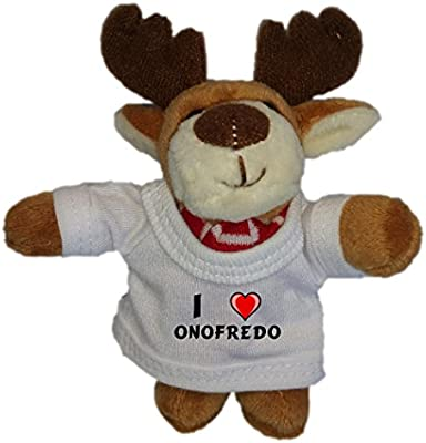 Amazon.com: Alce de peluche llavero con I Love Onofredo ...
