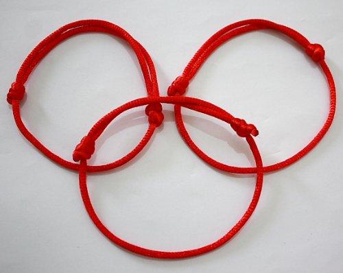 3 Bracelets Cordon Ajustable Fil Rouge de Kabbale Bijou Fait Main Contre le Mauvais Oeil Amazon.fr Bijoux