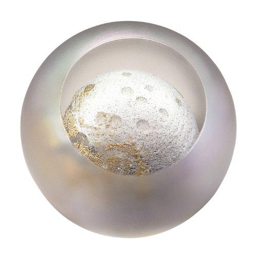 Glass Eye Studio Moon Blown Glass Paperweight