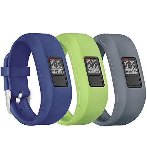 Mosstek Bands Compatible Garmin Vivofit 3 / Jr/Jr 2 Kids Women Men, Silicone Fitness Accessories Replacement Band Compatible with Garmin Vivofit 3 Jr Jr 2 (No Tracker)