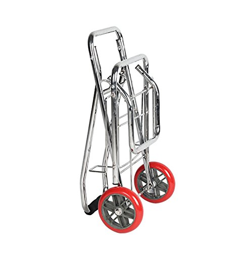 ZGL Pull Rod Car Trolley Supermarket Shopping Cart Folding Pull Rod Car Baggage Trailer Portable Groceries Trolley Save Effort Pull Truck (Size : S) by Trailer Cart (Image #3)