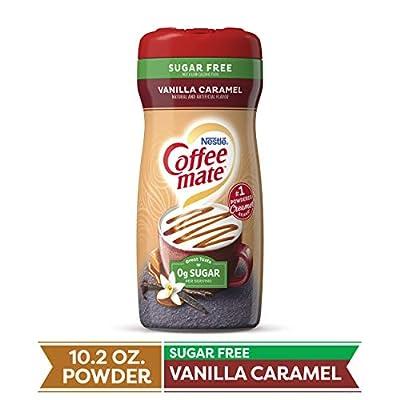 COFFEE MATE Sugar Free Vanilla Caramel Powder Coffee Creamer 10.2 Oz. Canister | Non-dairy, Lactose Free, Gluten Free Creamer