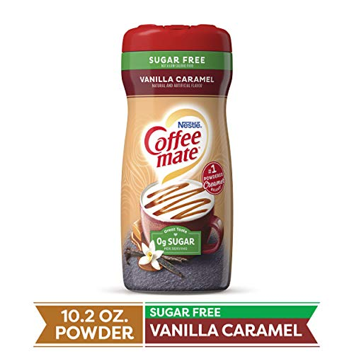 Coffee-Mate Coffee Creamer Sugar Free Vanilla Caramel, Pack of 6 (10.2 Ounce)