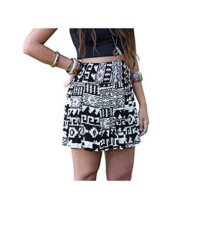 56583bd68c Aztec Tribal Geometric Skirt - Midi Skirt, High Waist Skirt Geometric  Patterns Boho Style: Amazon.ca: Handmade