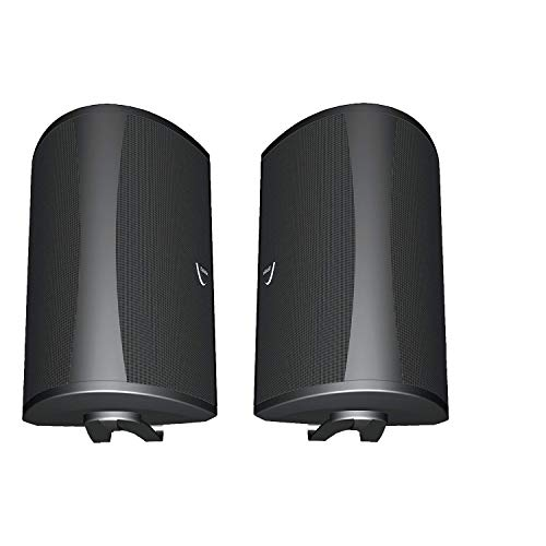 Definitive Technology AW 6500 All Weather Outdoor Loudspeaker System (Pair) Mid Woofer, Bass Radiator & Tweeter Home Theater Sound Quality Indoor Speaker Sound The Great Outdoor- Black