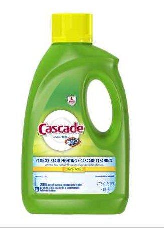 パワー!カスケードジェル 食洗機用洗剤 レモン75.0オンス (2個) B079VP4KJ6