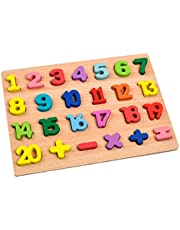 Fancyes Wooden Puzzle Board Toys Educational Early Education Alphabet Number Recognition Intelligence Parent-Child Enlightenment - Style 1