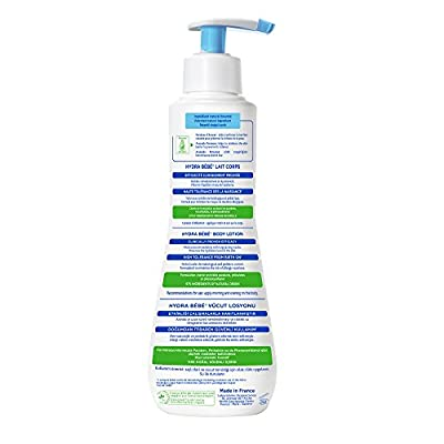 Mustela Hydra Bebe Body Lotion, Daily Moisturizing Baby Lotion for Normal Skin, with Natural Avocado Perseose, Available in Different Sizes