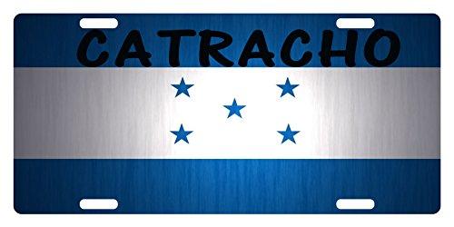 HONDURAS Flag Custom License Plate National Emblem CATRACHO Version (Flag Custom Car)