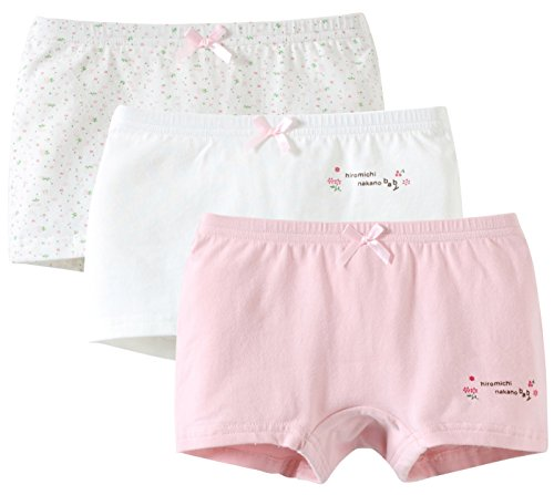 ssorted Girl Boxer Brief Pure Boyshort Panties with Cute Bowknot Size 130 Pink ()