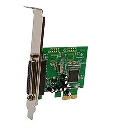 Syba Single Port Parallel DB25 PCIe x1 Card MCS9900 Chipset SY-PEX10008